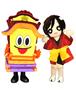 半田信用金庫イメージキャラクター「だし太郎」「まつりちゃん」